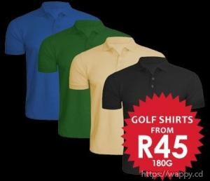 Cheap T-Shirts and Golf Shirts South Africa