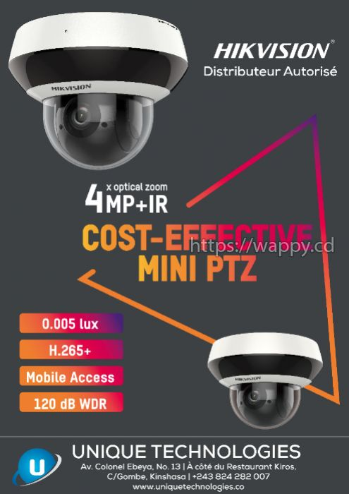 Hikvision 4 MP 4x Network PTZ Camera