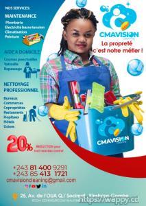 Service Nettoyage, Entretien : CMAVISION