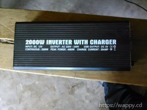 Convertisseur 2000w avec chargeur