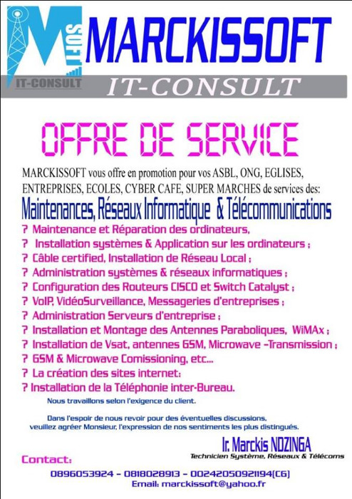 OFFRES DE SERVICES