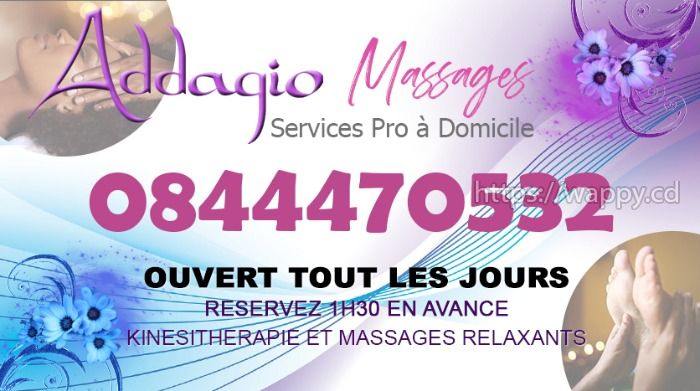 Addagio Massages - Services Pro à domicile