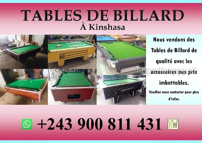TABLES DE BILLARD