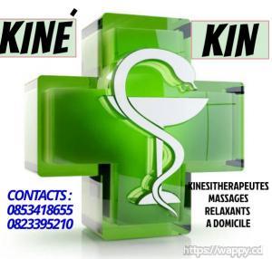 Massages medicals à domicile*Kinésithérapie