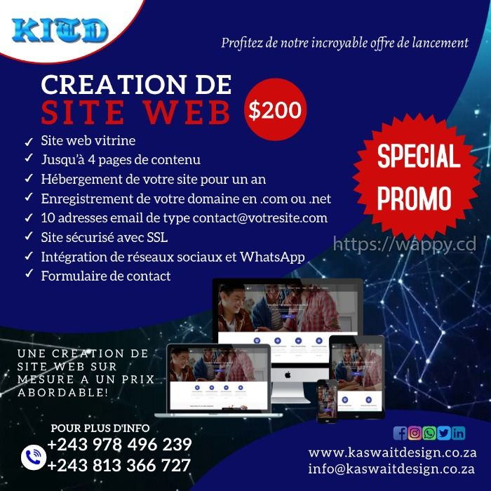 Conception de site web : SPECIAL PROMO $200