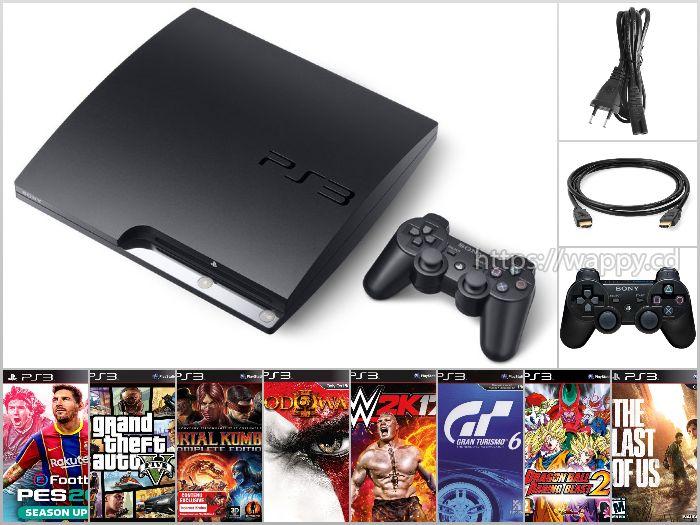PS3 + 2 Manettes + 8 Jeux