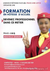 FORMATION EN HÔTESSE D'ACCUEIL