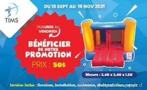 Chateau gonflable à Kinshasa