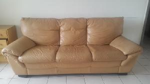 Salon cuir et fauteuil design