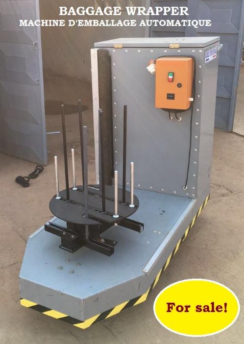 Machine filmeuse de bagages automatique