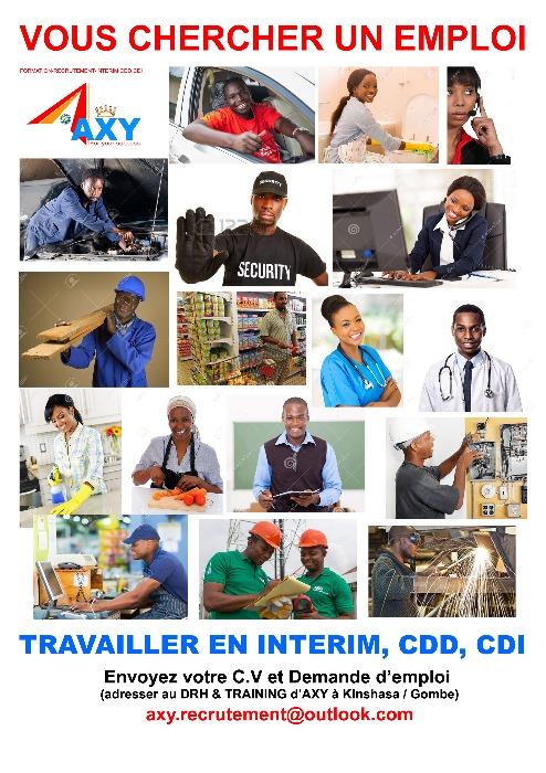 AXY RECRUTEMENT EMPLOI INTERIM CDD, CDI